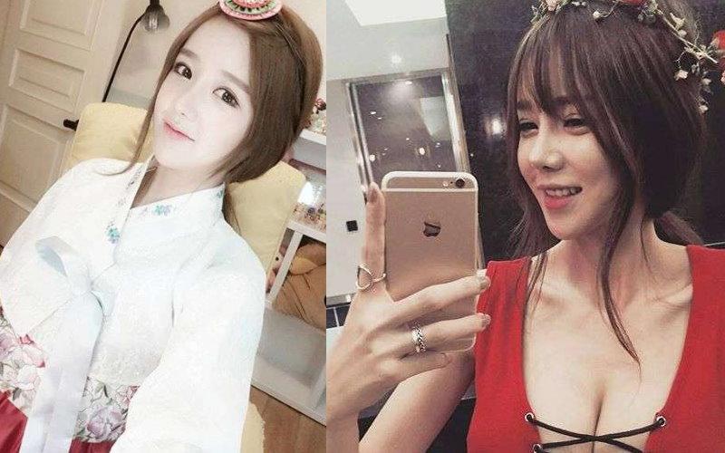 当大家看到她的照片时都只觉得是位可爱的韩国妹子,但看了全身照后才