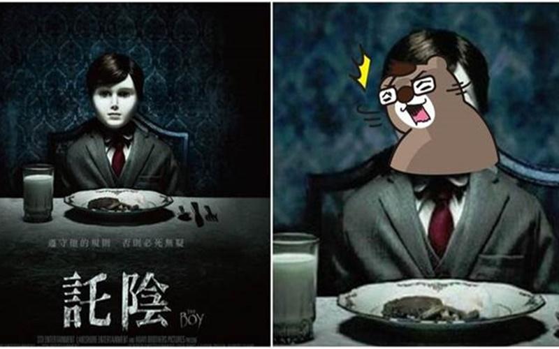 網友『一句話』就讓一張令人發毛的恐怖電影宣傳海報瞬間變調了XD  -