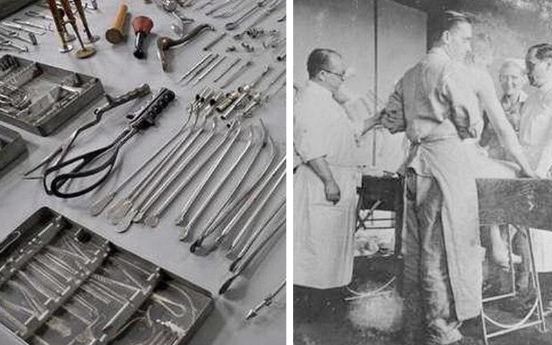 原來這些都是納粹集中營使用過的駭人刑具!現在我終於明白德國的刀具為何這麼耐用了...  -
