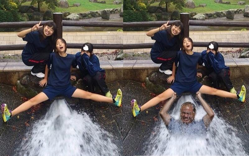 日本女高中生的『無節操自拍照』慘遭網友惡搞!  -