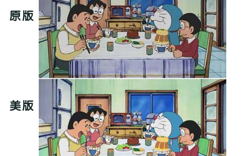 《哆啦A夢》美國版據說為了符合美式健康生活型態竟然更改了這幾幕?!也不知這些是啥邏輯?!