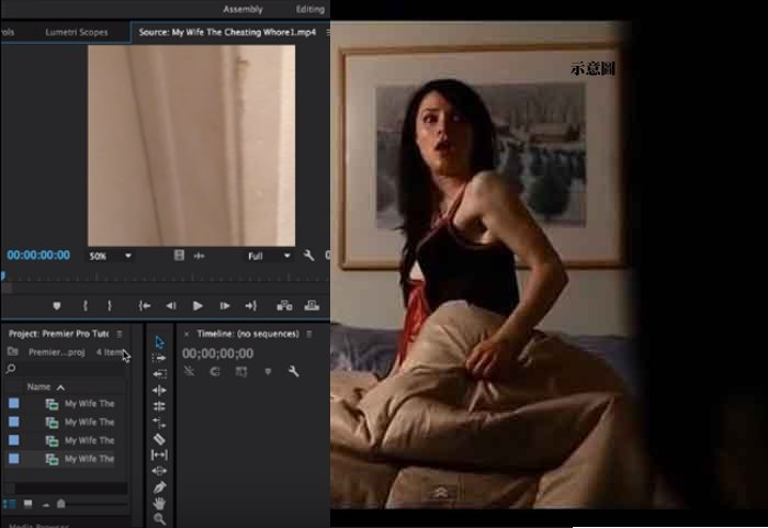 上床接吻黄色片_他用自己老婆跟男人上床的影片制作视频教程,看完有种心酸的感觉!