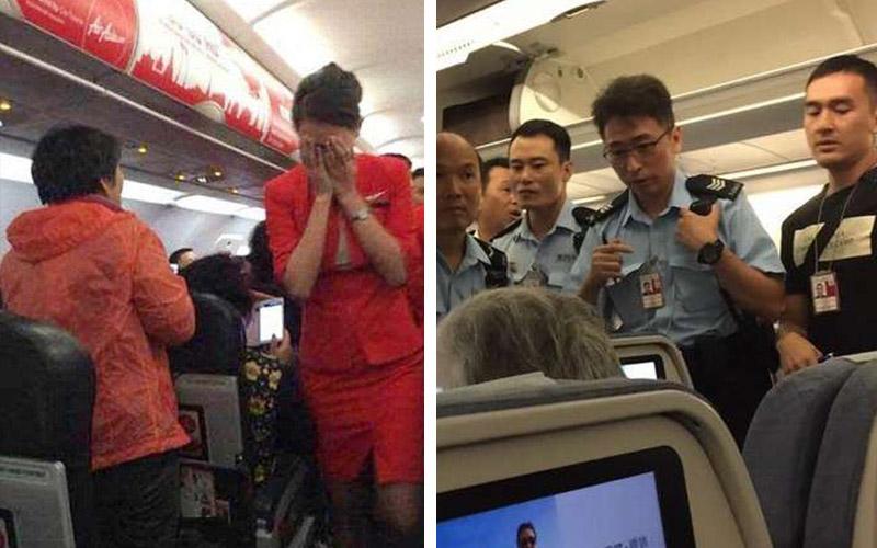 中國大媽自己沒先「預訂兒童餐」惱羞對國泰空姐潑灑果汁,結果一下飛機看到的景象就讓她嚇傻了!