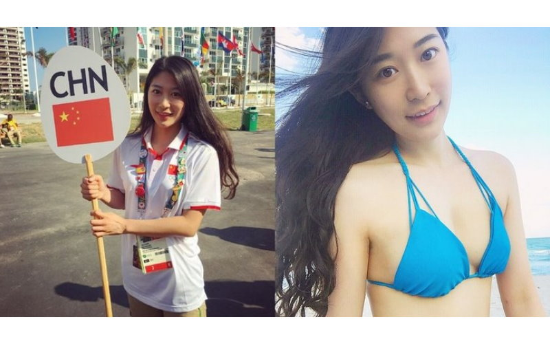 奧運場邊女義工「又胸又正」!但她的行為被大陸網友轟「簡直心機婊」