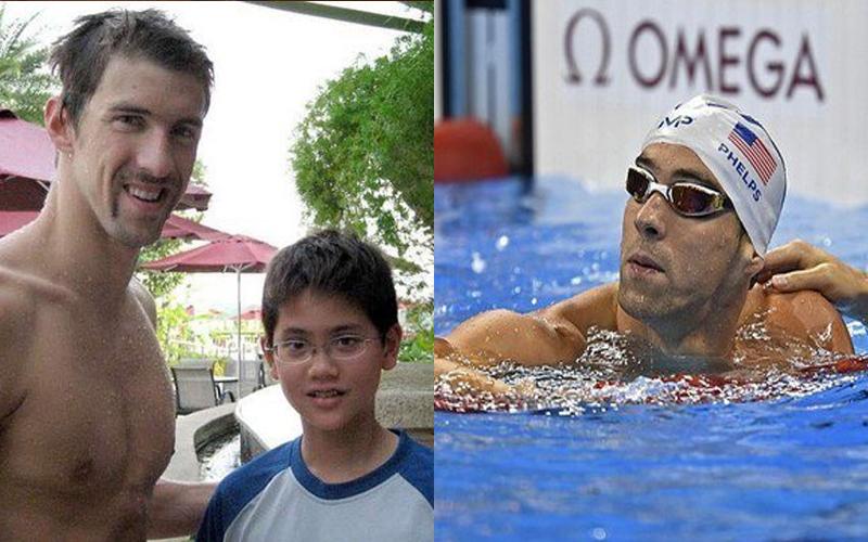 8年前這個小男孩和偶像「飛魚」合照留戀,如今他們在奧運泳池重逢,昔日粉絲竟打敗偶像!
