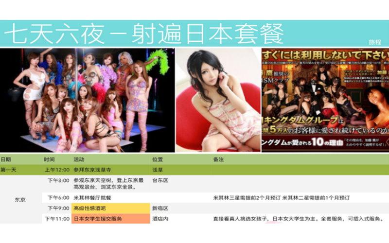 日本極樂旅遊出團!AV女優全天作陪,行程不是吃就是射,除了要有錢身體還要很好啊!