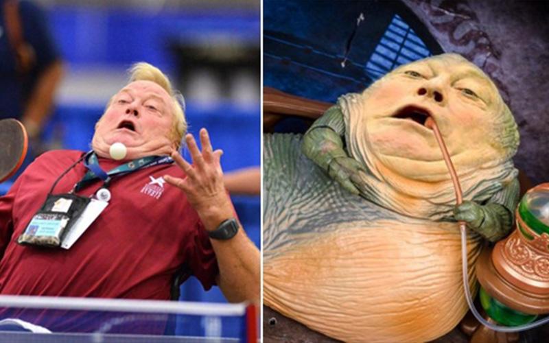奧運乒乓球選手比賽中不經意露出超有喜感表情,結果引出10位「PS大神惡搞」選手都笑到崩潰了啊!!
