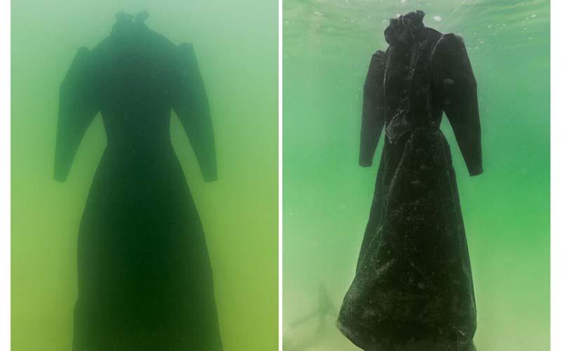 一群人將一件黑色長洋裝放入死海的深處,兩年後打撈上來,乾!我看了毛骨悚然!