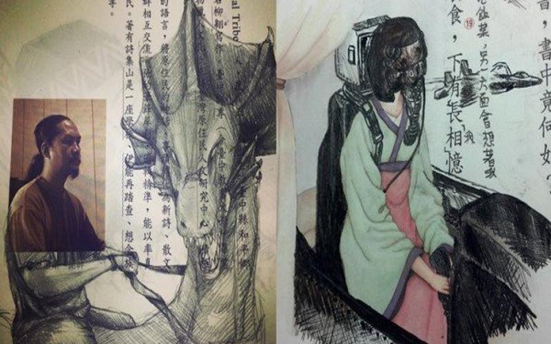 神人在民間!高中國文課太無聊,他的超狂「惡搞作者系列塗鴉」讓書中人物超有戲。網友笑噴:黃春明那張太有戲