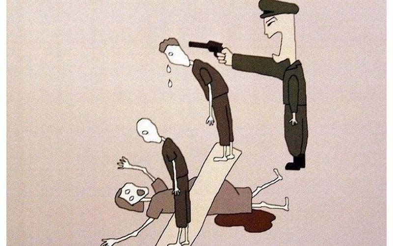 脫北者親筆畫下「北韓收容所內的黑暗面」..手段殘酷到你難以想像!墮胎竟然「這樣墮」!