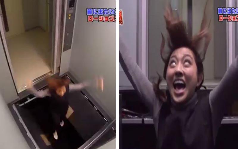 她走進電梯「地板突然裂開」,掉下去之後發生的事保證讓你笑到破壞腹肌!XD(圖+影)