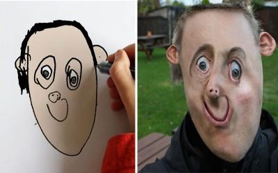 超狂爸爸將自己6歲兒子的畫「P到真實事物」笑噴網友!(29P)