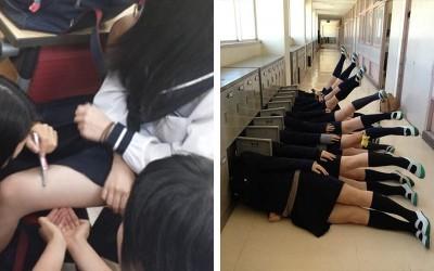 日本女校的高中生都是這樣度過校園生活的!真的是太會玩了!:沒男生只好自己找樂子