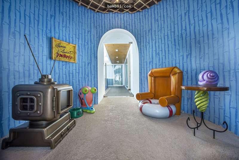 是谁住在「深海里的大凤梨」里?海绵宝宝主题旅馆超梦幻!