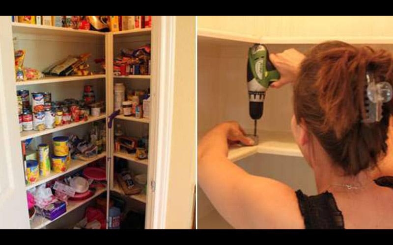 這個家庭主婦因為儲藏室的物品老是被擺放的亂七八糟終於忍無可忍,於是她決定動手「安裝這個東西」,大家看到後都爭相請她幫忙也做一個!  -