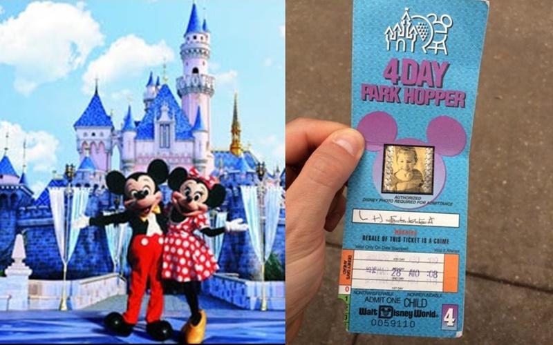 """在家中翻到這張""""22年前""""的迪士尼門票決定去試試看,沒想到售票員一看到就對她說…  -"""