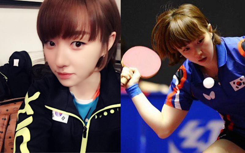 看奧運看到戀愛了!南韓最美桌球女神 大眼+超天然童顏:居然有人說撞臉台灣男藝人?