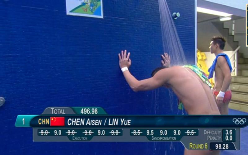 15個因為「記分板位置太剛好」瞬間變成謎片男主角的奧運男選手們,心靈不純潔的人會越看越害羞...!