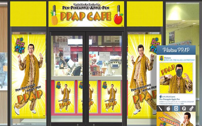 神曲「PPAP」將在東京開主題咖啡廳,超狂餐點還會貼心附上「PPAP」讓你邊吃邊跳!到底煩不煩XD?