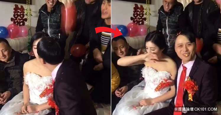暴牙男娶到「神正老婆」興奮到當場親吻!沒想到新娘下一秒反應…似乎明白了什麼(圖+影)-0